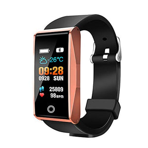 Smart bracelet Waterproof Sports, Bluetooth Silicone Heart Rate Monitoring Pedometer and Calorie Counter,for iOS and Android Smartphones