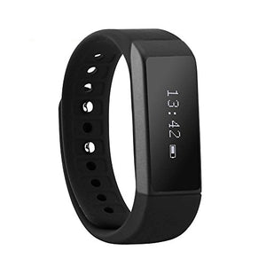 Fitness Smart Bracelet, Joso I5 Plus Bluetooth Wristband with Steps Distance/Calorie/Sleep Record/Remote Control Support APP Data Sync for iOS 7.0 Android 4.3 Above for Healthy Life-Black