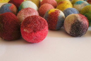Cat Toy, Felted Wool Balls. Handmade From Ecological Wool Made By Kivikis. (5 wool balls)