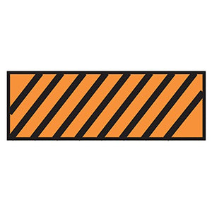Surgical Instrument Identification Sheet Tape Diagonal Black Stripe Orange