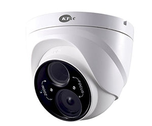 KEZ-C2TR28V12XIR KT&C 2.8~12mm Varifocal 1080p Outdoor IR Day/Night Turret Dome HD-TVI Security Camera 12VDC - White