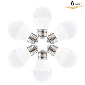 6 Pack Led Refrigerator Light Bulb 40 Watt Equivalent, 4 W A15 Led Bulbï¼?Non Dimmable A15 Daylight Wh