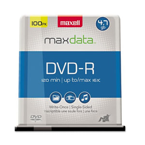 MAX638014 United STATIONERS (OP) DISC,DVD-R,100PK SPNL