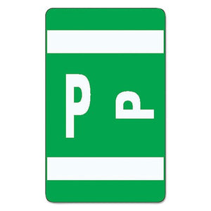 Alpha-Z Color-Coded Second Letter Labels, Letter A, Red, 100/Pack [Set of 2] Label/Color: Letter P, Dark Green