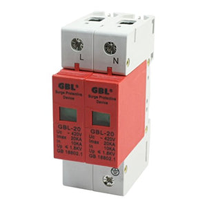 Aexit AC 420V Power Protection 20KA DIN Rail Mount Circuit Breaker Surge Surge Protectors Protective Device