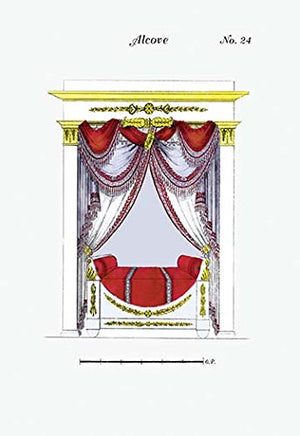 French Empire Alcove Bed No. 24 12x18 Giclee On Canvas