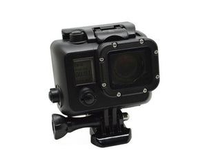 Low-profile Black 131' 30m Waterproof Housing Dive Underwater Protective Replacement Case with Quick Release Buckle and Screw for GoPro Black Silver White Edition Hero 3, Hero 3+, Hero 3 Plus, Hero 4