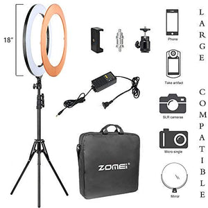 ZOMEI Right Light Kit,Ring Light with Stand,18