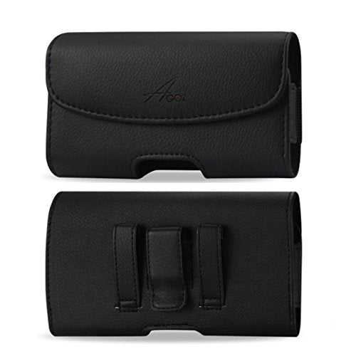 for Samsung Galaxy Express 3 J120A / Galaxy Amp 2 SM-J120A, Premium Leather AGOZ Pouch Case Holster with Belt Clip & Belt Loops (Fits with A Slim Cover)