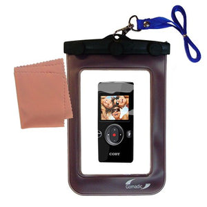 Underwater case for The Coby CAM5002 SNAPP Camcorder - Weather and Waterproof case Safely Protects Against The Elements