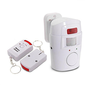 Mengshen Infrared Motion Sensor Alarm - Burglar Alarm with 2 Remote Controls, Suitable for Home/Garages/Shops, H88