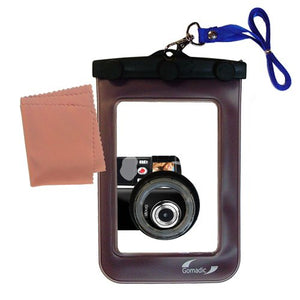 underwater case for the Coby CAM3002 SNAPP Camcorder - weather and waterproof case safely protects against the elements