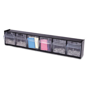 DEF20604OP - Deflecto Tilt Bin Interlocking Multi-Bin Storage Organizer