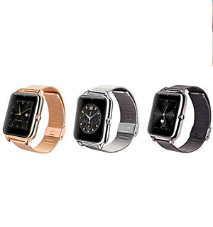 Rose Gold Steel Metal Band BT Smart Watch Answer/Receive Android