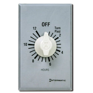 Intermatic Ff312 H 12 Hour Spring Loaded Wall Timer, Brushed Metal Finish