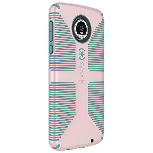 Speck Products Candyshell Grip Cell Phone Case for Moto Z Play, Quartz Pink/River Blue, 85756-C085