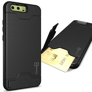 CoverON Credit Card Holder Protective SecureCard Series for Huawei P10 Case, Black