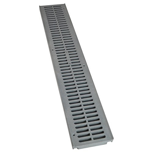 Nds, Gray 241 1 Spee D Channel Drain Grate, 4 1/8 In. Wide X 2 Ft. Long