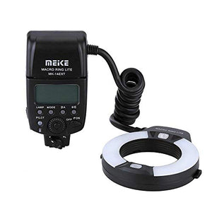 Meike iTTL TTL LED Macro Ring Flash Light for Nikon d3400 d5600 d5300 d3300 d3200 d3100 d5500 d5200 d5100 d7100 d750 d850 d7200 d500 d810 d7500 d5600 d5500 d7000 d3300 DSLR Camera with Hot Shoe Mount