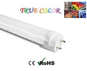 Fulight True-Color LED Tube Light (Dimmable) - T8 2FT 24-Inch 9W (18W Equivalent), Daylight 4500K, F17T8, F18T8, F20T10, F20T12/CW, Double-Ended Power, Frosted Cover - Full-Spectrum wth 95CRI