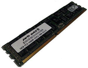 16GB Memory for Dell PowerEdge C6220 II DDR3 PC3-14900 1866 MHz ECC Registered DIMM RAM (PARTS-QUICK Brand)