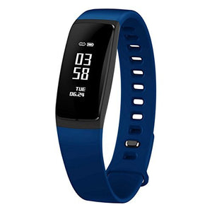 Waterproof Bluetooth V4.0 OLED Touch Smart Bracelet - Blue + Black