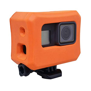 Floaty for GoPro Hero 7, Hero 6, Hero 5 Cameras, Orange Floating Case for GoPro Floater Accessories with Screw Use for Water Sports Swimming Diving