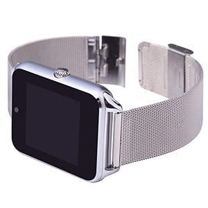 Classy Silver Steel Metal Band BT Smart Watch Answer/Receive Android F62
