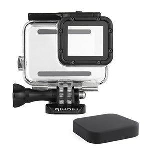 Standard Protective Waterproof Dive Housing Case for GoPro Hero 5/6 Black Action Camera and GoPro Hero 7 Black Cameras - Up to 45 Meters - Protective Lens Removal NOT Needed - Transparent Clear