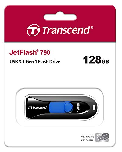 Transcend 128GB JetFlash 790 USB 3.0 Flash Drive (TS128GJF790K)