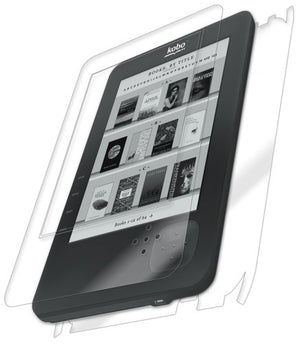 IQ Shield Full Body Skin Compatible with Kobo WiFi + LiQuidSkin Clear (Full Coverage) Screen Protector HD and Anti-Bubble Film