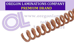 Spiral Binding Coils 7mm (9/32 x 15-inch Legal) 4:1 [pk of 100] Light Brown (PMS 1615 C)