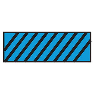 Surgical Instrument Identification Sheet Tape Diagonal Black Stripe Blue