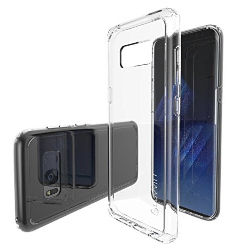 Galaxy S8 Case, LUVVITT [Clear View] Hybrid Scratch Resistant Back Cover with Shock Absorbing Bumper for Samsung Galaxy S8 - Clear