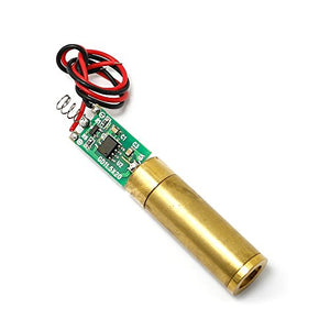 Diode Lasers 3.0-3.7V 532nm 20mW Green Laser Cross Module w/Cable & Brass Housing
