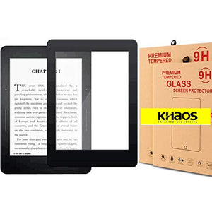 KHAOS Screen Protector for All New Kindle Paperwhite 4 2018 Screen Protector, [High Definition] [Bubble Free] Tempered Glass Screen Protector for All-New Kindle Paperwhite 4 6.0'' 2018 - Black
