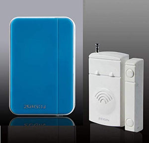 Home Security Door/windows Magnetic Sensor Alarm Entry Alert Chime with Wireless Receiver (Blue)