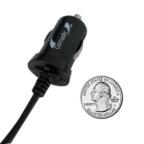 Double Port Micro Gomadic Car / Auto DC Charger suitable for the Plantronics Discovery 665 - Charges up to 2 devices simultaneously with Gomadic TipExchange Technology