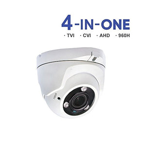 HDVD 1080p dome camera 2mp TVI/AHD/CVI/960H 4 in 1, Motorized 2.8-12mm wide angel lens, Auto Focus, WDR, night vision up to 120ft, Surveillance Cameras