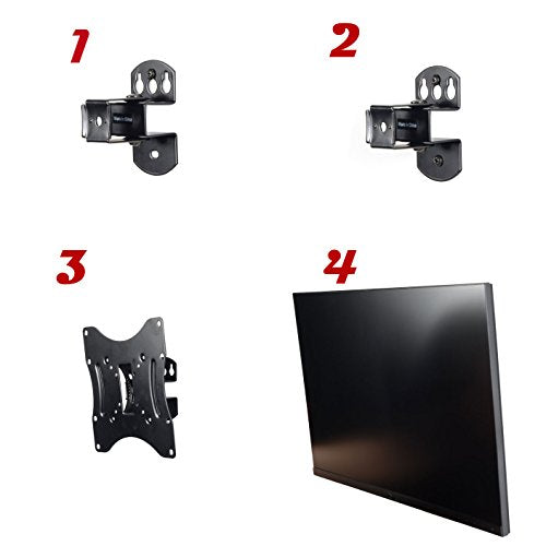 "Video Secu Ml421 B2 Tilt Swivel Tv Wall Mount Bracket For 27"" 47"", Some Tv Up To 50"" With Vesa 200/200"