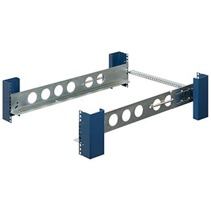 RackSolutions 2U 4 Post Tool-less Fixed Server Rack Rails with Cable Management Arm