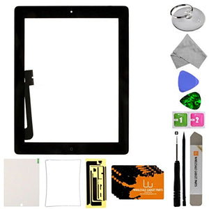 Digitizer & Home Button Assembly for Apple iPad 4 (Black) with Tool Kit
