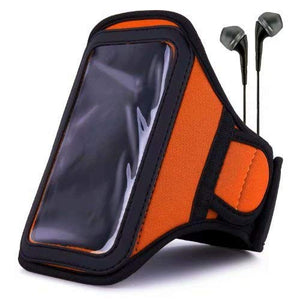 Van Goddy Orange Water Resistant Sports Armband With Extender For Blu Studio, Energy, R1, Neo, Dash W