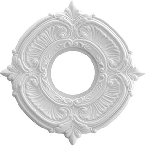 Ekena Millwork CMP10AT Attica Thermoformed PVC Ceiling Medallion, 10