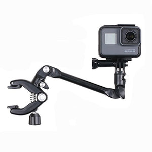 Thinvik Music Guitar Drum Mic Instrument Stand Mount Gooseneck Jaws Flex Clamp 360 Degree Rotation for Gopro Hero 6 5 4 3+ Black Session