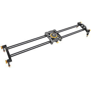 Neewer 31.5 inches/80 centimeters Carbon Fiber Camera Track Slider Video Stabilizer Rail with 6 Bearings for DSLR Camera DV Video Camcorder Film Photography, Load up to 17.5 pounds/8 kilograms