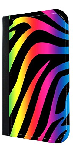Colorful Zebra Print- Rosie Parker Inc. Samsung Galaxy S8 Plus/ s8+ PU Leather and Suede Wallet Style Phone Case