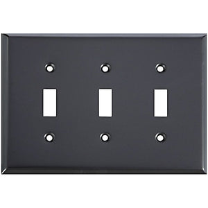 Basic Triple Switch Wall Plate Oil Rubbed Bronze