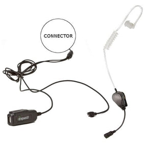 Impact SP3-G2W-AT6 Gold Series 2-Wire Surveillance Earpiece Kit for Sepura Bottom Mount SRP2000 3000 3500 3800
