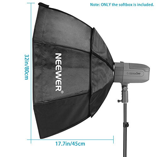 Neewer 32x32inches/80x80centimeters Octagon Flash Softbox with Grid and Bowens Mount Speedring Compatible with Nikon Canon Sony Pentax Olympus Panasonic Lumix Neewer Flash